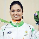 RT @indianshooting: Shweta Chaudhry (IND) displays her Bronze medal which she won in the Womens 10m Air Pistol. #AsianGames http://t.co/KwmklRgIPP