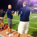 Coach DeRuyter at the Edison-Clovis North game. He totally caught me taking this picture lol. http://t.co/xBMmbR2uTS
