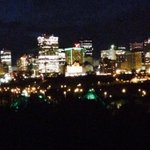 The @atbfinancial building looks great in green. #UAlbertaAW http://t.co/2InU9zA3qS