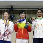 Indias first medal (Bronze) in 10m Air Pistol Womens final at #AsianGames2014 bagged by #ShwetaChaudhary http://t.co/aXX8nC7BMm