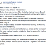 The consequences of the hyperbolic rhetoric of a terror threat. #auspol http://t.co/v4ehCjSYTf