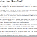 From #MaunMohan to #MaunModi? By @ArvindKejriwal Must For All cc @NarendraModi #YoModiSoMaun http://t.co/NWdQ4kdpX4 http://t.co/0xeo3LmpfO