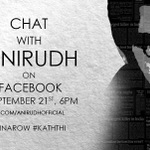Chat with Anirudh tomorrow @ 6pm. #Kaththi #6InARow. http://t.co/QY4beuJ8Ai
