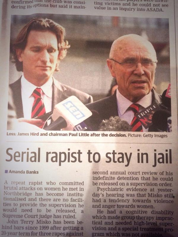 James Hird can't be too happy about this photo placement... http://t.co/igHyUMYJax