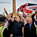 Nazi salutes, flares, and mounted police. More images of Glasgows George Square from The Heralds Jamie Simpson http://t.co/eHel2VJddJ