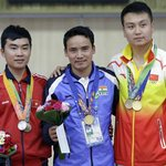 RT @India_AllSports: Jitu Rai on victory podium with his Gold Medal #AsianGames2014 http://t.co/jtgdAXwlv5