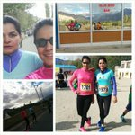 Pushed ourselves to participate in the highest #marathon in the world at Leh during our #LadakhRun. @SwatySMalik