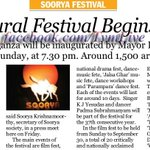 51 days long #SooryaFestival to begin 2morrow at #Trivandrum. http://t.co/z8gHnUoARC