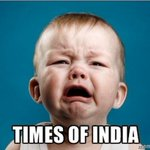 Only @TimesofIndia #CryBaby know all, as they get the readership survey done in house http://t.co/T3oi7GSTWb