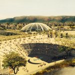 And this. Futuristic outdoors. #NalandaUniversity #Rajgir #Bihar #Heritage #Future #Buddha #India http://t.co/Vt8iRn65i3