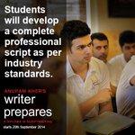 RT @actorprepares: Starting today and all Saturdays & Sundays- #WriterPrepares (http://t.co/oBp03fgivz) 4 month #Scriptwriting Diploma http…