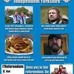 Vote for an independent #Yorkshire http://t.co/XGxSYLEGL1