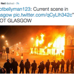 Twitter users try to pass off photos of London Riots as #GlasgowRiots at #GeorgeSquare http://t.co/5GFJIiPv7U http://t.co/YHEYj6M7Xd