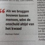 """RT """"@jandekluijver: Treffende uitspraak Herman Kaiser bij #MarketGarden2014 http://t.co/6V8DQAvijo"""""""