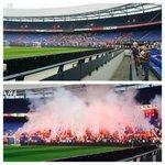 """""""@VoetbalUltras: Laatste training Feyenoord voor klassieker http://t.co/g8LvgP544w"""" RT meer vuurwerk op de tribune dan tussen de lijnen ????"""