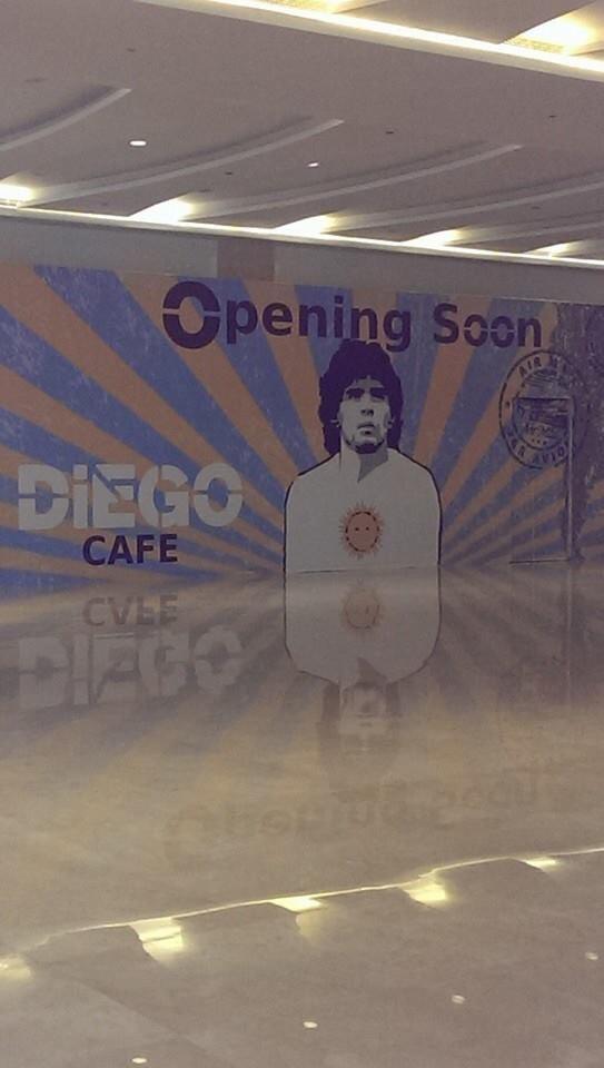 The Diego Cafe; opening soon in #AbuDhabi, #UAE  - #Maradona http://t.co/bWiRfzaKmz