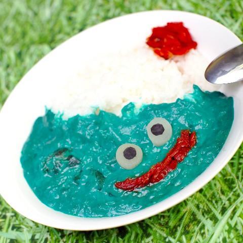 スライム!カレー!2大好きなものコラボだー! RT @livedoornews: 【食べてみたい】青い「スライムカレー」が爆誕! http://t.co/VVkOEWo9ND ヴィレッジヴァンガードで9月下旬発売予定。「バ〇ルスライム http://t.co/b37K9DCfuY