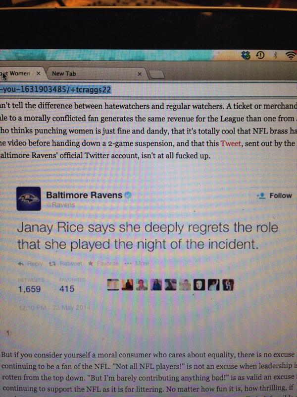 Before everyone congratulates the #Ravens for taking a stand, let's revisit this tweet. http://t.co/YRv0qboYqf