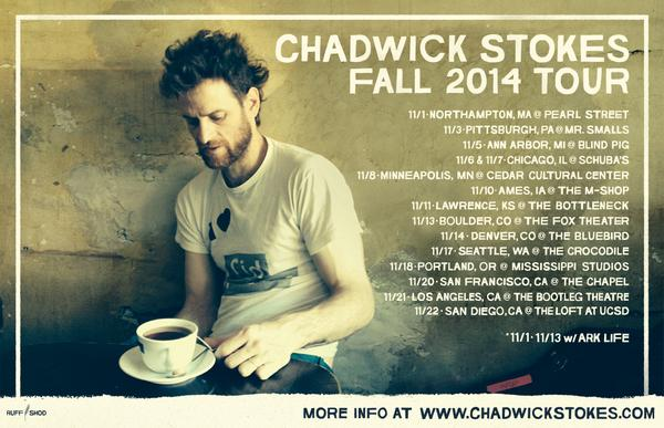 The fall 2014 @chadwickstokes tour is on! http://t.co/btGit7NFmn