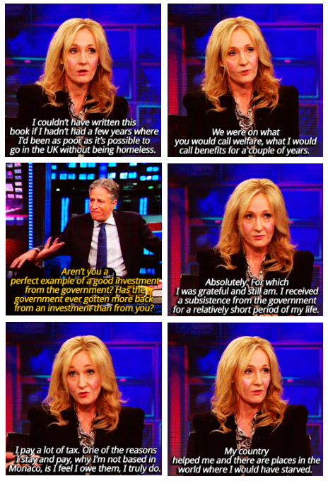 """@thei100: The most magical things JK Rowling has done since writing Harry Potter http://t.co/4nad3XGluI http://t.co/7t4MXkdKQC"" respect"