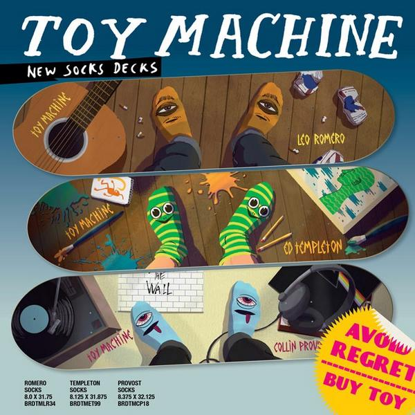 "Way into this! ""@toymachine: NEW #toymachinesocks board series arriving at skateshops now! - http://t.co/UssGZQZEQw"""