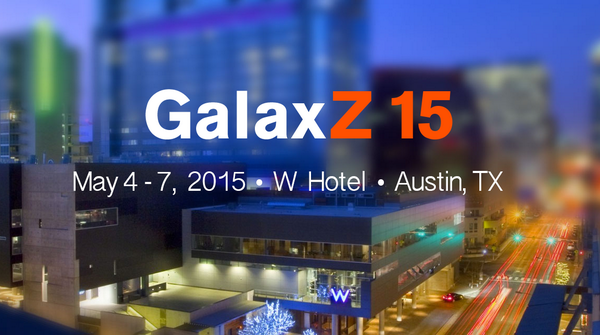 We're announcing our first ever user conference—GalaxZ 15! May 4-7 2015, @WHotelATX http://t.co/bAEXinbL20 #GalaxZ15 http://t.co/th4u6TkIcJ