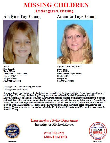 PLEASE SHARE: We've issued an Endangered Child Alert for missing 6-year-old Ashlynn Young. Call 1-800-TBI-FIND. http://t.co/3Cea8yjrJn