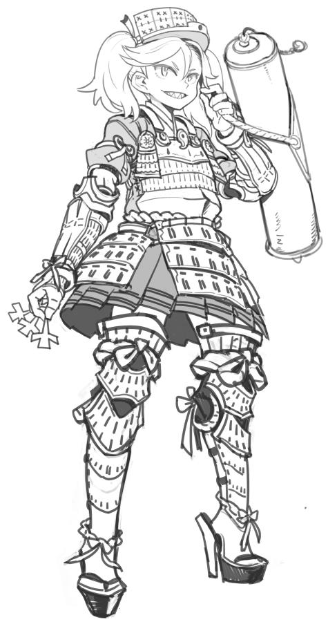 ギザ歯龍壌ちゃんに甲冑を着せて鉄壁感を上げました。鉄壁?絶壁? http://t.co/u8PJ86dtMx
