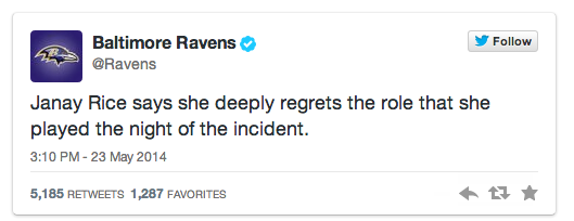 The @Ravens deleted that tweet from May, which made it disappear from my tweet linking it. So here it is again: http://t.co/n0R60D7amH