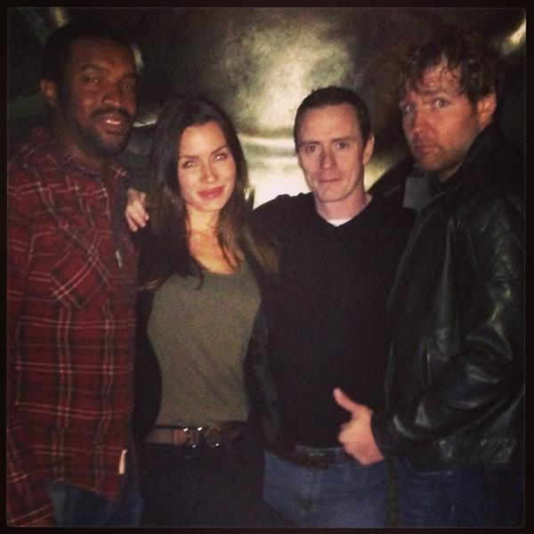 Boys night out...  Yeah I crashed @therogercross @reynoldsfilms @TheDeanAmbrose #LOCKDOWN http://t.co/bTEljutzJH