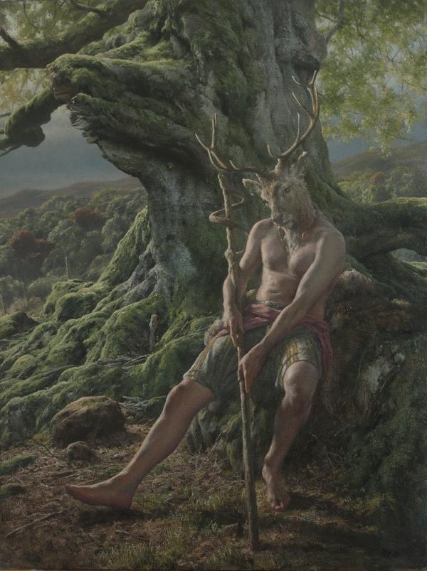 'Cernunnos Study'-Oil on Canvas-61x45cm http://t.co/W2y0aTKLgx