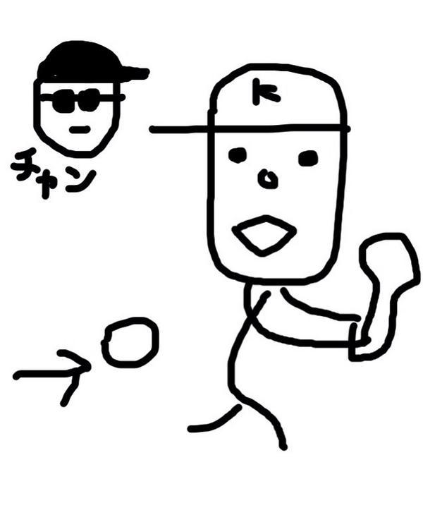 錦織選手の世界最強のバックハンドを描いてみました→ http://t.co/vfD7hh0xz9