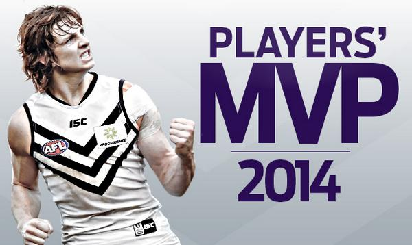 Our Nat Fyfe is the 2014 @AFLPlayers MVP! #gofreo #FreoFinalsFever http://t.co/EO1z8X3vKT