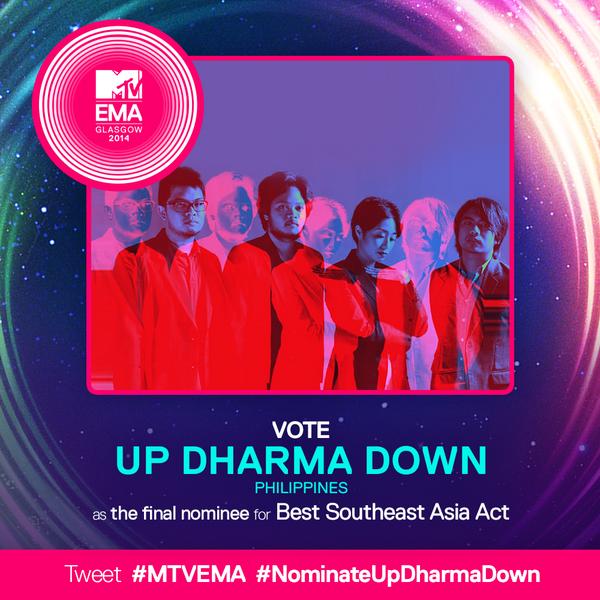 Hey guys we need your support :)  kindly tweet.... #MTVEMA #NominateUpDharmaDown http://t.co/Bd7VSmTDjV