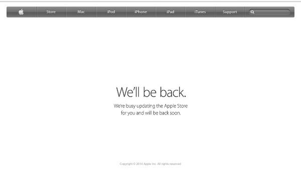 Comienzan los cambios: ¡Apple cierra la Apple Store on-line! #ApplesferaKeynote9S http://t.co/ns5TBPWJ84