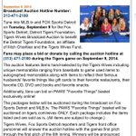 RT @Field_Jordan: I'm always proud to work with #TigersWives. Especially tonight.  Annual Broadcast Auction on @FOXSportsDet. Call in! http…