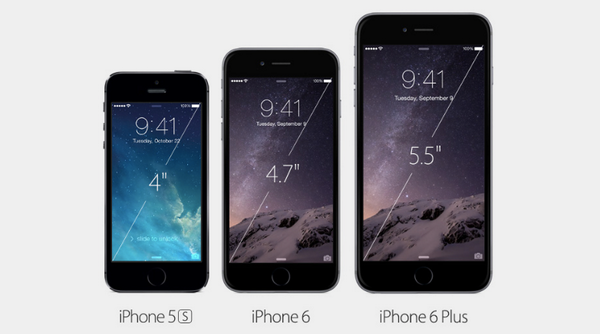 L'iPhone 6 est fin de 6,8 mm et 7,1 mm (iPhone 6 Plus). À titre de comparaison, l'iPhone 5s mesurait 7,6 mm. http://t.co/ktZ898ausZ