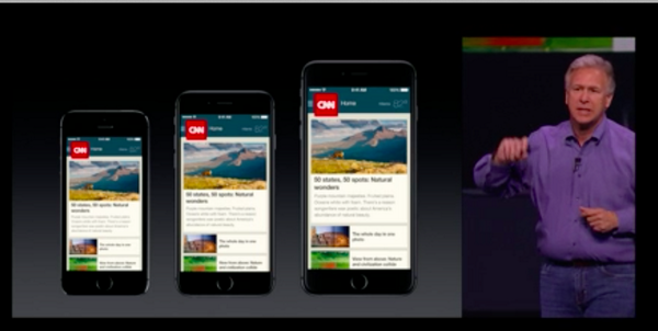 Well look at that! The @CNNMobile iPhone app makes an appearance at today's #AppleLive event! #thisisCNN #gothere http://t.co/OUaX0RepGZ
