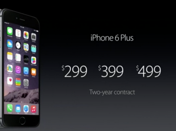 iPhone6 Plusの価格。 http://t.co/lM74H2OUMr