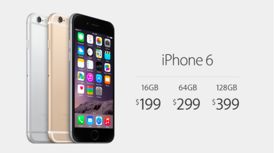 Apple's iPhone 6 will cost $199 on a two-year contract. http://t.co/icfZE6OxrQ