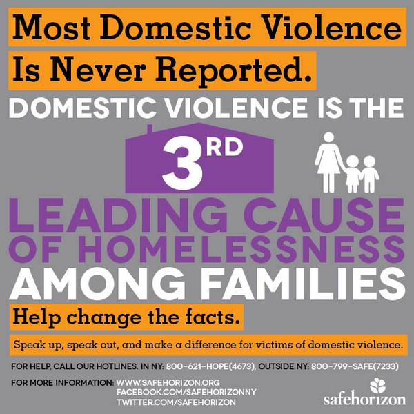 #WhyIStayed Because #domesticviolence is the 3rd leading cause of #homelessness. http://t.co/kxTySlBQE0