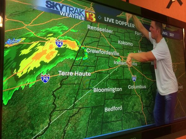 So this is happening. @PatMcAfeeShow practicing weather. #WTHR http://t.co/5eZOL8AN4e
