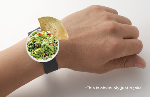 Giving you more options in wristwear... Introducing the iGuac, the future of wearable fresh. http://t.co/3knZSGvu2t