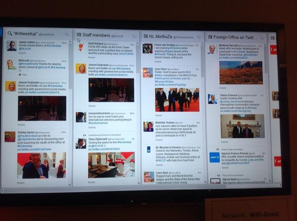 Encourage your staff to tweet by installing a Twitter wall in the canteen! Hot tip from @MsLoloJ at NLtweetup http://t.co/TyunZPFoBO