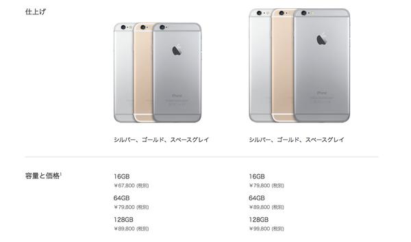 SIMフリーモデルの価格。 http://t.co/Zq4PhmxU7B