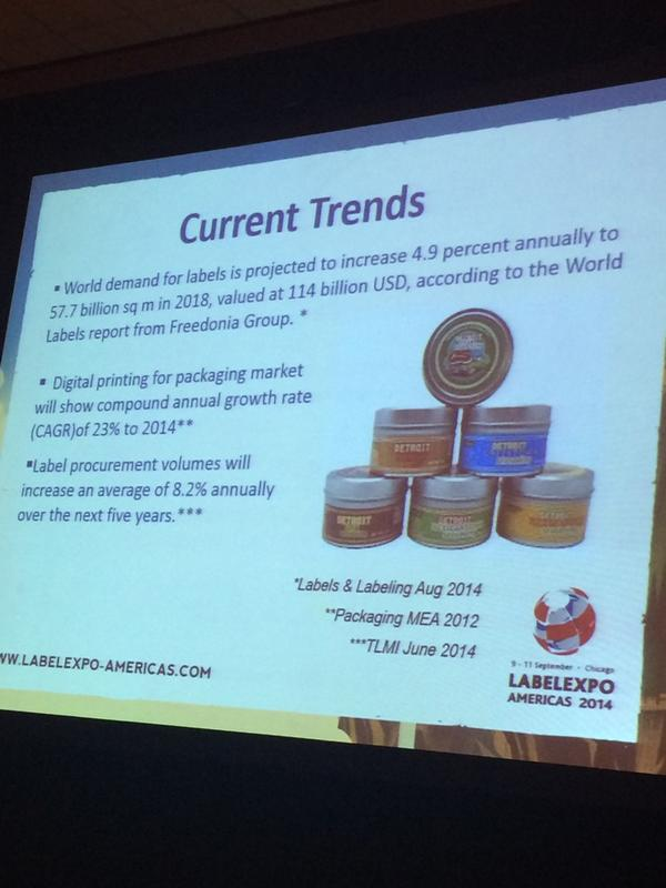 Some interesting inkjet stats as reported @labelexpo #labelexpo by @EFI_Print_Tech - great info! http://t.co/QEPt5DyqSv