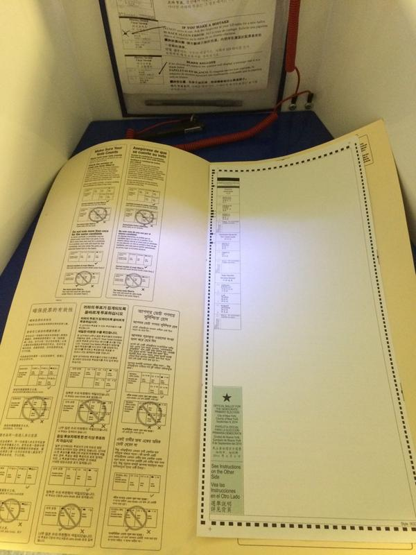On a day Apple debuts a wearable computer, this is how we vote in New York state http://t.co/5dlCWVeSa0