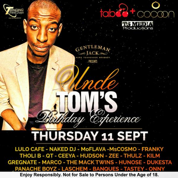 ☺ RT @ts_models: Tomorrow we celebrate @MalomeTom 's Birthday at @taboo_jhb @Cocoonloungejhb | YOU INVITED Bozza  http://t.co/t3UrEnMHAX