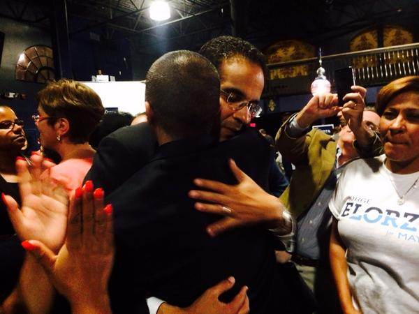 Great pic RT @AndrewAugustus: .@Angel_Taveras embraces @ElorzaForMayor #wpro http://t.co/KoccO1sfbT