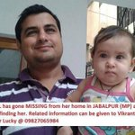 RT @PandeyJaideep: #Urgent Need #Help...Baby Girl missing from #Jabalpur (MP) @richaanirudh @DrSYQuraishi @divyadutta25 @tarasharmasaluj ht…
